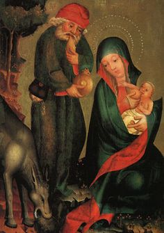 Rest on the Flight to Egypt, panel from Grabow Altarpiece MASTER Bertram. 1383.Kunsthalle,Hamburg.