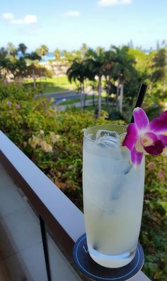 Ice cold Coconut Lemonade is a tropical way to quench your thirst at #Waiolu.  #TrumpWaikiki #Waikiki #Hawaii #Coconut #Lemonade #Tropical #Summer #Drink