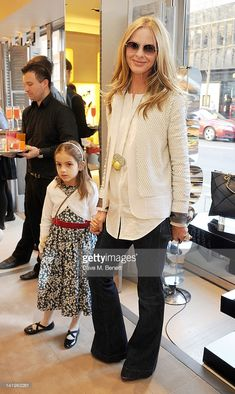 Trinny Woodall and daughter Lyla attend a children's afternoon tea party hosted by Roger Vivier...