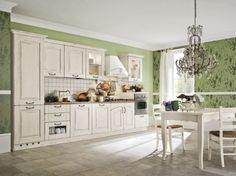Abbinamento bianco e verde per la cucina