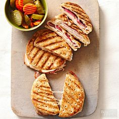 What's better for dinner than a quick and healthy sandwich? A sandwich that's already been prepared ahead of time, of course. These yummy sandwiches can be frozen for up to 3 months without losing their bold flavor--when you're ready to serve, just add cheese and grill.