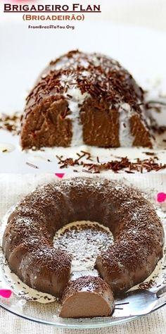 Brigadeiro flan -- Dessert