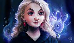 Luna Lovegood by Ludmila-Cera-Foce.deviantart.com on @DeviantArt More