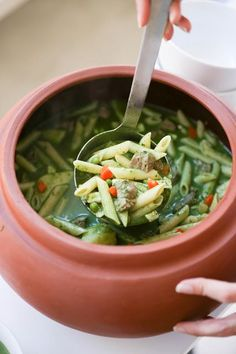 A simple delicious recipe for Peruvian Minestrone Soup - a vibrant soup loaded with veggies in a fragrant basil broth. Healthy and flavorful! Peruvian Dishes, Peruvian Cuisine, Peruvian Recipes, Soup Recipes, Cooking Recipes, Healthy Recipes, Water Recipes, Healthy Soup, Grilling Recipes