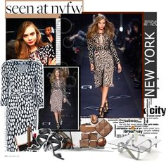 """""""Seen at NYFW...Cara for DVF"""" by bamaannie ❤ liked on Polyvore"""