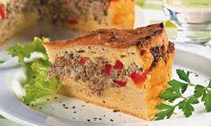 Receita de Torta de carne moída com maionese -> http://www.showdereceitas.com/4066/receita-de-torta-de-carne-moida-com-maionese/
