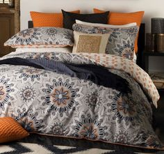 Logan and Mason Lifestyle Bali Quilt Cover Set Range Orange