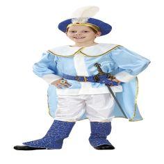 DisfracesMimo, disfraz de principe azul infantil varias tallas. Podrá ir en busca de su princesa de su cuento en fiestas.ste disfraz es ideal para tus fiestas temáticas de disfraces de princesas y principes para niños infantiles.