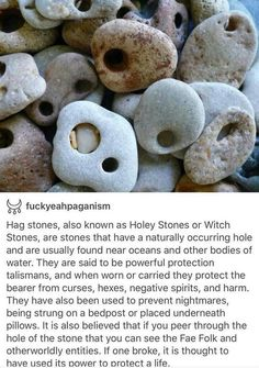 Hag Stones - Talisman from the Sea. Hag Stones - Talisman from the Sea. Hag Stones, Baby Witch, Sea Witch, A Silent Voice, My Sun And Stars, Witch Aesthetic, Book Of Shadows, Crystals And Gemstones, Writing Inspiration