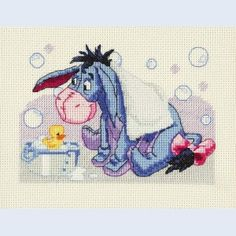 Eeyore - Bath Time - counted cross-stitch kit  Royal Paris