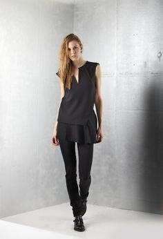 Black top- V neck #Malloni collection winter 2014
