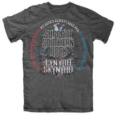Be loud and be proud in your very own officially licensed Lynyrd Skynyrd Support Southern Rock T-shirt.