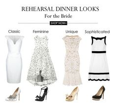 rehearsal dinner outfits for the bride
