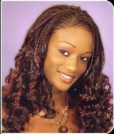 Very pretty, oh boy I'm making this decision hard. Curly single braids.