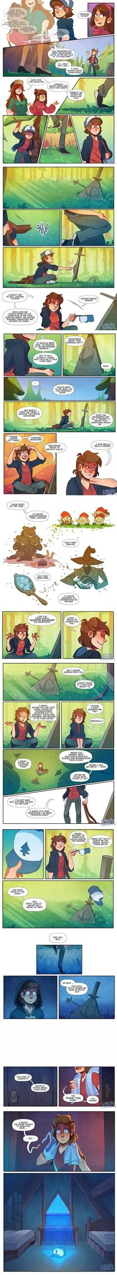 I love Gravity Falls! IDK if this is some kind of Billdip thing and if it is AWESOME! Idk why I ship Billdip so much, but I do! Gravity Falls Funny, Gravity Falls Fan Art, Gravity Falls Comics, Billdip, Teen Titans, Monster Falls, Grabity Falls, Desenhos Gravity Falls, Bipper