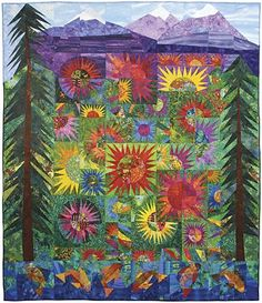 Sisters Scape - 2006 Sisters Outdoor Quilt Show™ Raffle Quilt   Designed by Valori Wells.