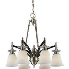 West Side Collection 6-Light Hanging Black Chrome Chandelier Light-964802006 at The Home Depot