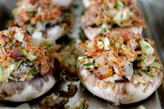 Stuffed mushrooms - gluten-free, dairy-free #gf
