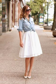 5 Stylish Ways To Wear A White Skirt This Summer