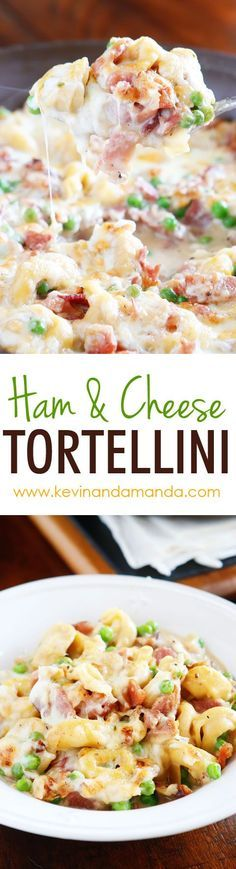 A whole meal in one pan! This Ham & Cheese Tortellini is creamy, cheesy, deliciousness in every bite! Make it in 15 minutes and everything cooks in one pan, so you only have one dish to wash. The perfect quick and easy weeknight dinner that everyone w