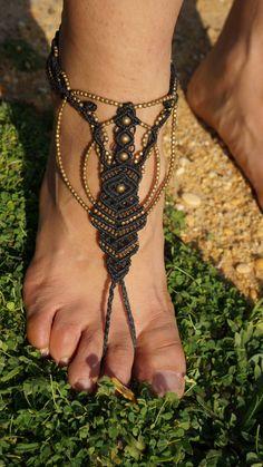 Barefoot shoes beach barefoot sandals macrame by OlyfBoomCreations