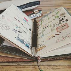 3月のマンスリーもちょこちょこ書いて貼って楽しんでます🌼 長かった手帳会議も、レギュラーサイズとパスポートサイズで落ち着きました🙆 私には2冊使いがベストです😅 ・ ・ #midoritravelersnotebook #トラベラーズノート #travelersnote#travelersnotebook #手帳#マンスリー#journal#journaling#planner#diary #コラージュ#stationary#stationery #マスキングテープ#マステ#washitape#maskingtape #stamps#stamp#スタンプ #つくしペンケース
