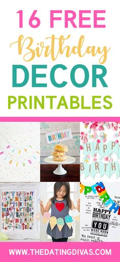 Free Birthday Printables- just print and go! These are SO colorful and fun!