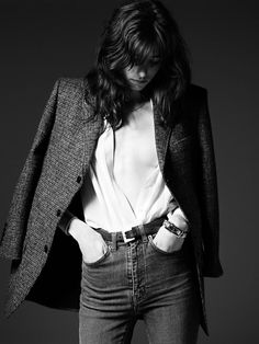 Ad Campaign: Saint Laurent Pre-Fall 2014 Model: Grace Hartzel Photographer: Hedi Slimane