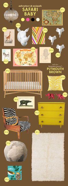 safari baby nursery inspiration board