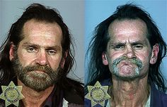 Methamphetamines user. Left image taken in 2005 and right image taken in 2008 Picture: Multnomah County Sheriff's Office / Barcroft USA