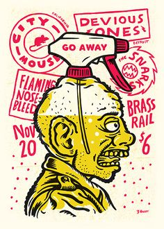 GigPosters.com - City Mouse - Flamingo Nosebleed - Devious Ones - Snarks, The