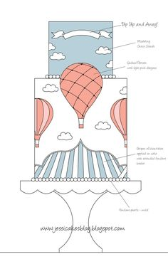 Jessicakes: Hot Air Balloon Cake - Up Up and Away!