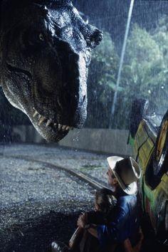 T Rex Jurassic Park, Jurassic Park Series, Jurassic Park World, Jurassic Movies, Ariana Richards, Funny Celebrity Pics, Jurrassic Park, Sam Neill, Michael Crichton
