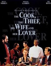 The Cook, The Thief, His Wife & Her Lover, 1989. Director: Peter Greenaway. Romantic crime drama where abuse meets ego meets   revenge. Lavish use of colours and surreal cinematography.