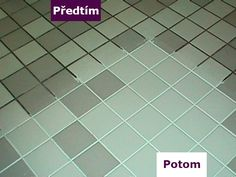 Green Tile Grout Cleaner Green Spring Cleaning Recipe for the Grout :) 7 cups water, cup baking soda, cup lemon juice and cup vinegar - throw in a spray bottle and spray your floor, let it sit for a minute or two. then scrub : Cleaning Recipes, Cleaning Hacks, Cleaning Supplies, Floor Cleaning, Green Cleaning, Cleaning Spray, Bathroom Cleaning, Cleaners Homemade, Diy Cleaners