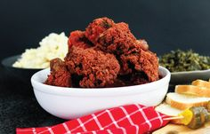 Flamin Hot Cheetos Fried Chicken - What you get when you mix your childhood snack obsession with your favorite comfort food. So Yummy!