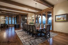 Spacious Dining Room And Table Home By Cameo Homes Inc In Park City