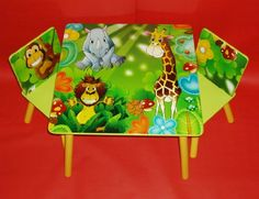 Childrens Jungle Table and Chairs