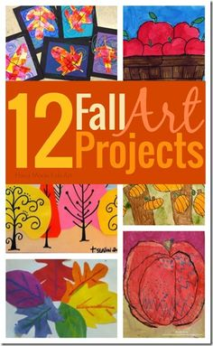 12 Beautiful Fall Art Projects for kids - so many great ideas (crafts for kids, preschool, kindergarten, 1st grade, 2nd grade, 3rd grade,)