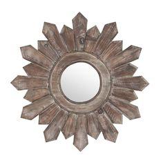 Poconos Wooden Wall Mirror | Kirklands as seen in the blog:  House by Hoff.
