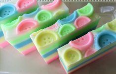 Baby Powder Button Soap  Glycerin Soap  Baby by SeasideSoapKitchen