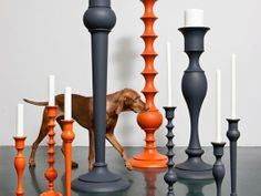 really I just love that they used a Hungarian Vizsla in their advertising...    http://mocoloco.com/fresh2/2012/02/09/holy-moly-pillar-candleholder-by-anki-gneib.php