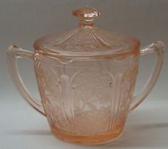 Depression glass. Pink, of course.