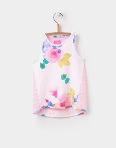 Joules Clothing Ocean Bloom Iris Jersey Vest Top