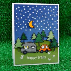 Tampon transparent Happy trails - Lawn fawn