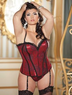 2c2809265eb Flaunt your best figure in this waist cinching stunner by Shirley of  Hollywood. A classic · Curvy Girl LingeriePlus Size LingerieSexy ...