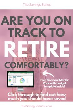 With saving money, have you ever wondered how much you should have stashed away by a certain age? Well, this guideline can help you! Preparing For Retirement, Retirement Planning, Pay Yourself First, Financial Success, Financial Planning, Budget Template, Investing Money, Budgeting Tips, Money Saving Tips