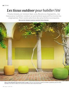 Moroccan Courtyard In Bright Citrus Colors Of Lime Green And Lemon Yellow Form Elle Decor France