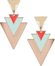 Dorothy Perkins Pastel triangle drop earrings | More here: http://mylusciouslife.com/prettiness-luscious-pastel-colours/