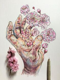 AA :: 꽃과 꿀벌, 신체를 연구하는 작가 'NOEL BADGES PUGH'